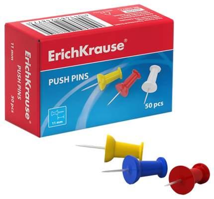 Кнопки силовые ErichKrause® цветные (коробка 50 шт.)