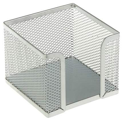 Подставка металлическая для бумажного блока прямоугольная ErichKrause® Compass, серебряный