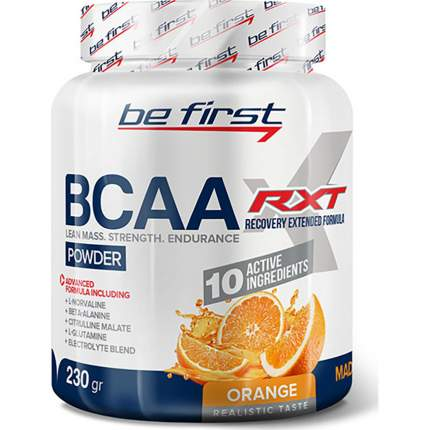Be First BCAA RXT powder 230g (230 г), Апельсин