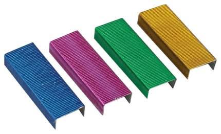 Скобы №24/6 ErichKrause® цветные (коробка 1000 шт.)
