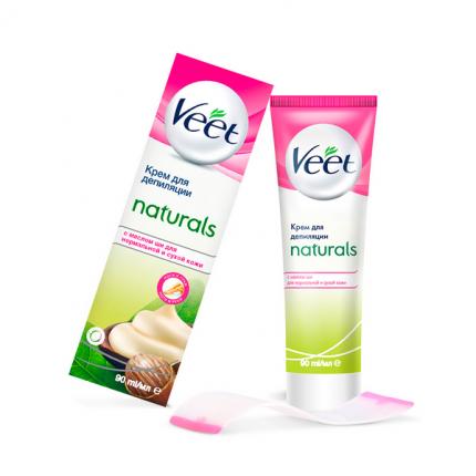 Крем для депиляции Veet Naturals c маслом Ши 90 мл