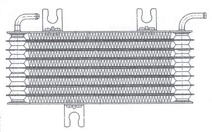 Радиатор масляный Qashqai 1.6i/2.0i CVT (06-) LUZAR LOc 14JD
