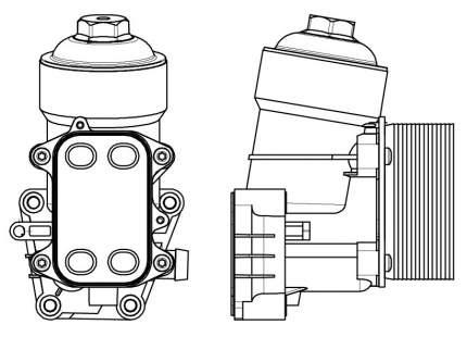Радиатор масляный в сборе Tiguan (08-)/Transporter (10-) 1.6D/2.0D LUZAR LOc 1809