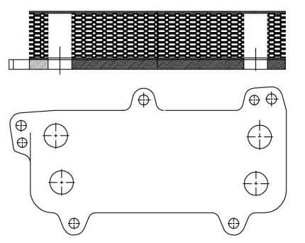 Радиатор масляный Transporter (03-)/Touareg (03-) 2.5D LUZAR LOc 1803