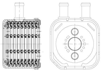 Радиатор маслянный Passat (B5) (97-) 1.8i/2.3i/2.8i/1.9D LUZAR LOc 1805