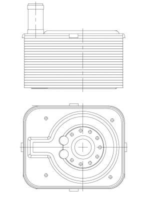 Радиатор масляный Golf (03-)/Touareg (10-) 2.0TDI/3.6 FSi LUZAR LOc 1838