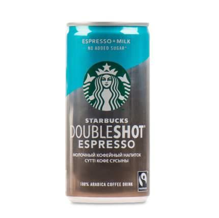 Напиток молочный кофейный Starbucks стерилизованный без сахара Doubleshot Espresso 200 мл