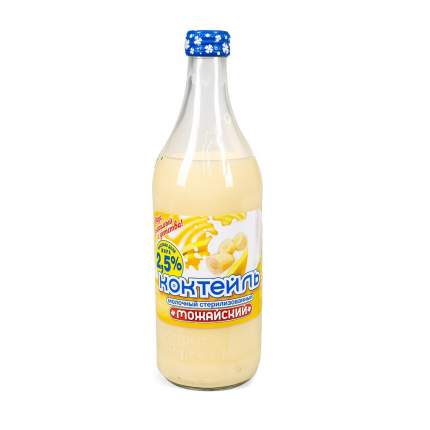 Коктейль молочный Можайский 2,5% банан 450мл Россия, БЗМЖ