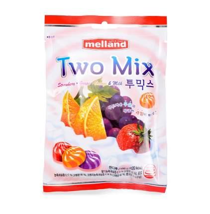 Карамель Melland Two mix фруктовая со сливками 100 г Южная Корея