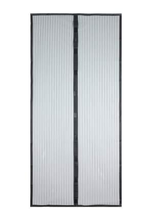 Москитная сетка ЕГ черная с магнитными защелками для двери (100х210 см)