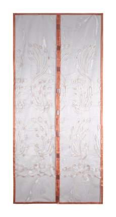 Москитная сетка ЕГ Павлины вышивка с магнитными защелками для двери (100х210 см)