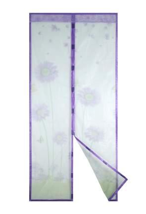 Москитная сетка ЕГ Ромашка круж с магнитными защелками для двери (100х210 см)