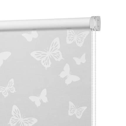 Рулонная штора Decofest Миниролл Бабочки Белый 90x160 160x90 см