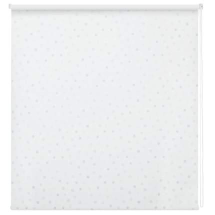 Рулонная штора Decofest Миниролл Блэкаут Горошек Голубой 50x160 160x50 см