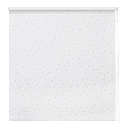 Рулонная штора Decofest Миниролл Блэкаут Горошек Розовый 100x160 160x100 см