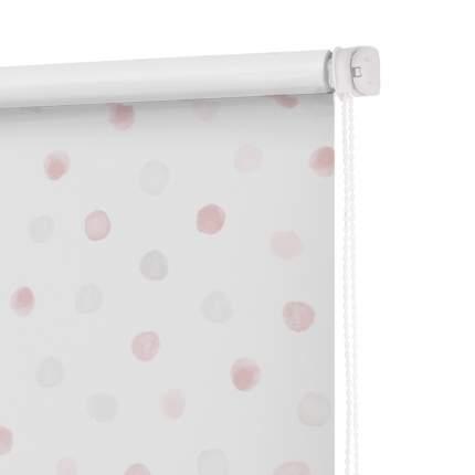 Рулонная штора Decofest Миниролл Блэкаут Горошек Розовый 60x160 160x60 см