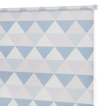 Рулонная штора Decofest Миниролл Принт Треугольники Бирюзовый 70x160 160x70 см