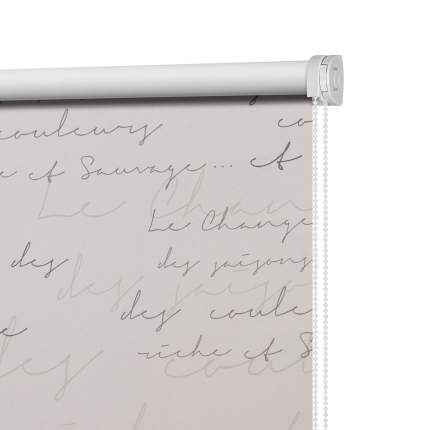 Рулонная штора Decofest Штора рулонная Блэкаут Письмо Серый 140x175 175x140 см