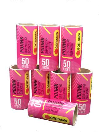 Запасной блок ролика для чистки одежды Gordana 8 шт по 50 листов