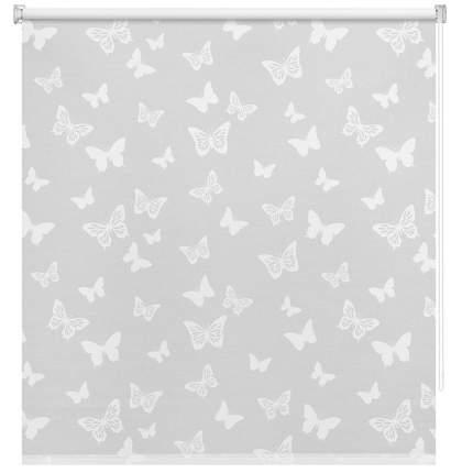 Рулонная штора Decofest Миниролл Бабочки Белый 50x160 160x50 см