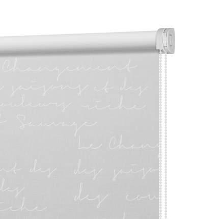 Рулонная штора Decofest Миниролл Письмо Белый 50x160 160x50 см