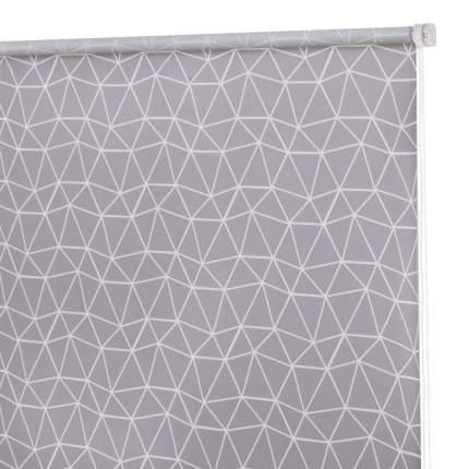 Рулонная штора Decofest Миниролл Принт Геометрическая сетка Серый 50x160 160x50 см