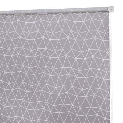 Рулонная штора Decofest Миниролл Принт Геометрическая сетка Серый 40x160 160x40 см
