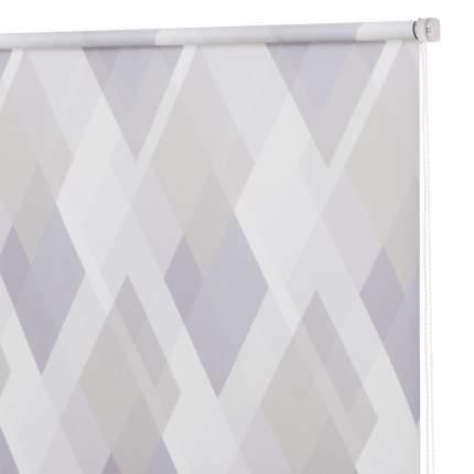 Рулонная штора Decofest Миниролл Принт Ромбы Серо-фиолетовый 50x160 160x50 см