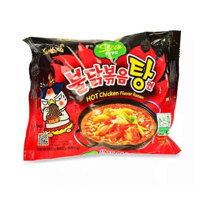 """Лапша """"Samyang"""" острая с курицей, 145 г, Южная Корея"""