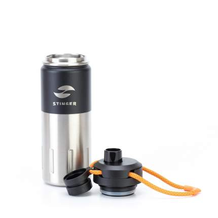 Термобутылка Stinger, 0,5 л, 7,5x23,1 см, черный