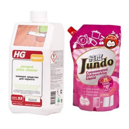 HG Моющее средство для паркета + концентрат д/посуды Jundo Sakura 800 мл
