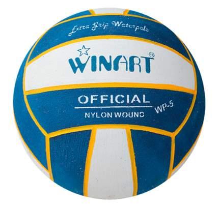 Мяч для водного поло Winart Stripped Yellow (размер 5), голубой