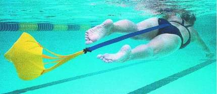 Пояс тормозной для плавания с парашютом StrechCordz Drag Belt, желтый
