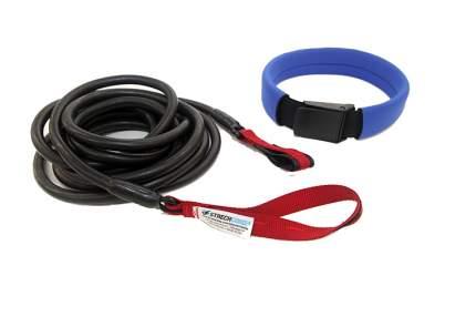 Пояс для плавания с сопротивлением StrechCordz Long Belt Slider, 6 м, черный, красный