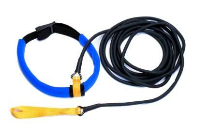 Пояс для плавания с сопротивлением StrechCordz Long Belt Slider, 6 м, черный, желтый