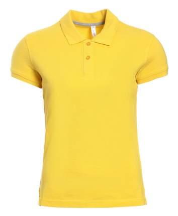 Поло женское KARIBAN W3 желтое XL