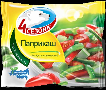 Смесь овощная 4 Сезона Паприкаш быстрозамороженная, 400 г