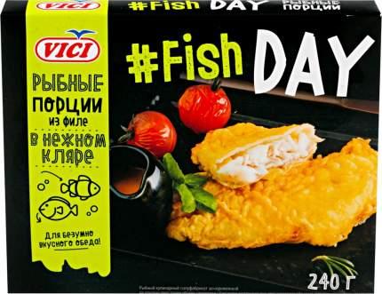 Рыбные порции из филе Vici Fish Day в нежном кляре, 240 г