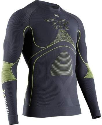 Термофутболка X-Bionic Energy Accumulator 4.0 Shirt Round Neck Lg Sl Men, charc/yellow, S