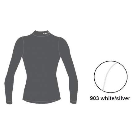 Термофутболка Accapi Tecnosoft Plus Eqt Longsl.lupettolady, white/silver, XS