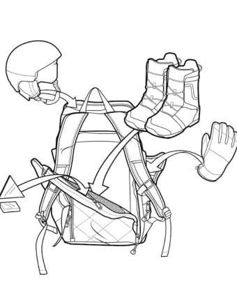 Рюкзак для ботинок Burton Booter 54 x 29 x 25 см black