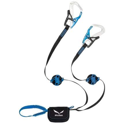 Спусковое страховочное устройство Salewa Set Via Ferrata Ergo Zip Silver/ Royal Blue