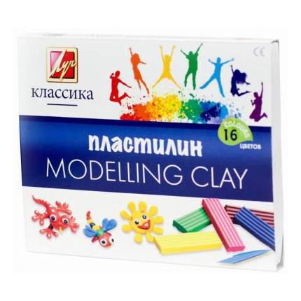 Пластилин ЛУЧ Классика 16 цветов 20С1329-08