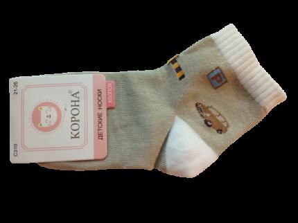 Носки детские 2 пары Корона, цв. коричневый р.22-24