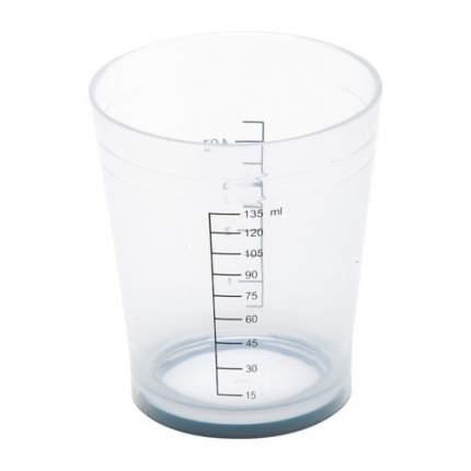 Стакан мерный Dewal для окрашивания с резинкой на дне 135 мл белый