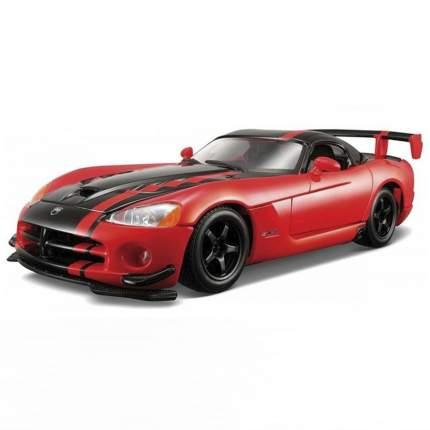 """Bburago Коллекционная машинка 1:24 """"Dodge Viper SRT 10 ACR"""", красный-черный, 18-22114"""