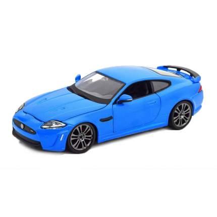 """Bburago Коллекционная машинка 1:24 """"Jaguar XKR-S"""", синий металлик"""
