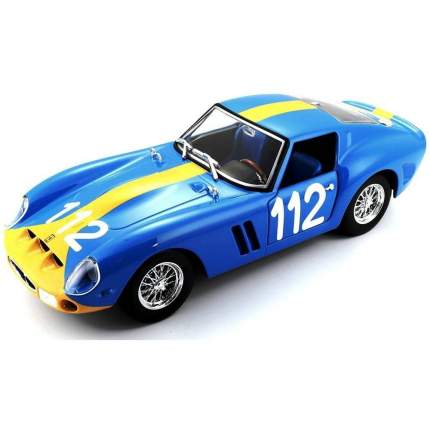 Bburago Машинка Коллекционная 1:24 Ferrari 250 GTO, 18-26305, Синий
