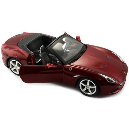 Bburago Коллекционная Машинка 1:24 FERRARI CALIFORNIA T (OPEN TOP), 18-26011, Красный