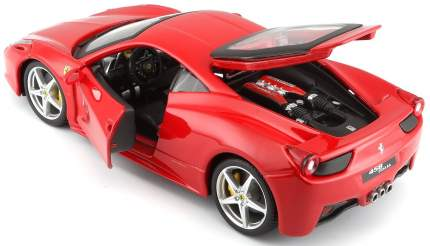 "Bburago ""Коллекционная машина BB 18-26003 1:24 FERRARI 458 ITALIA RED, Красный"""